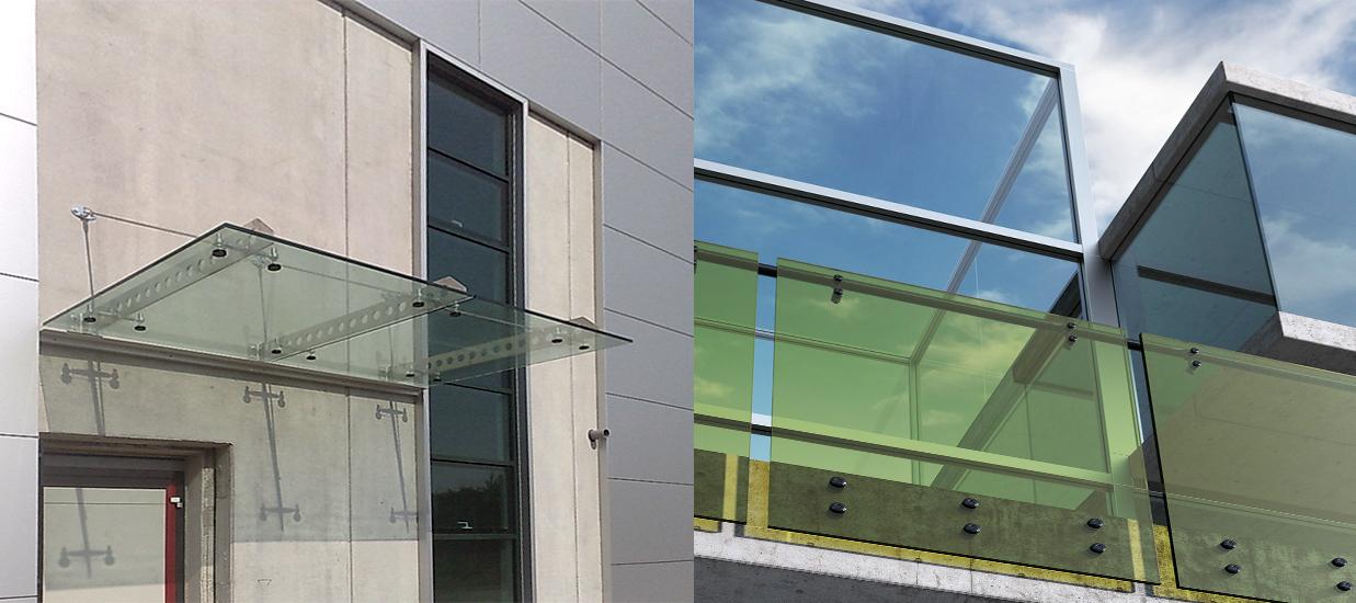Trendy tettoie e parapetti in vetro with balconi in vetro - Quanto costa una jacuzzi da esterno ...